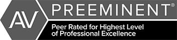 AV Preeminent | Peer Rated for Highest Level of Professional Excellence